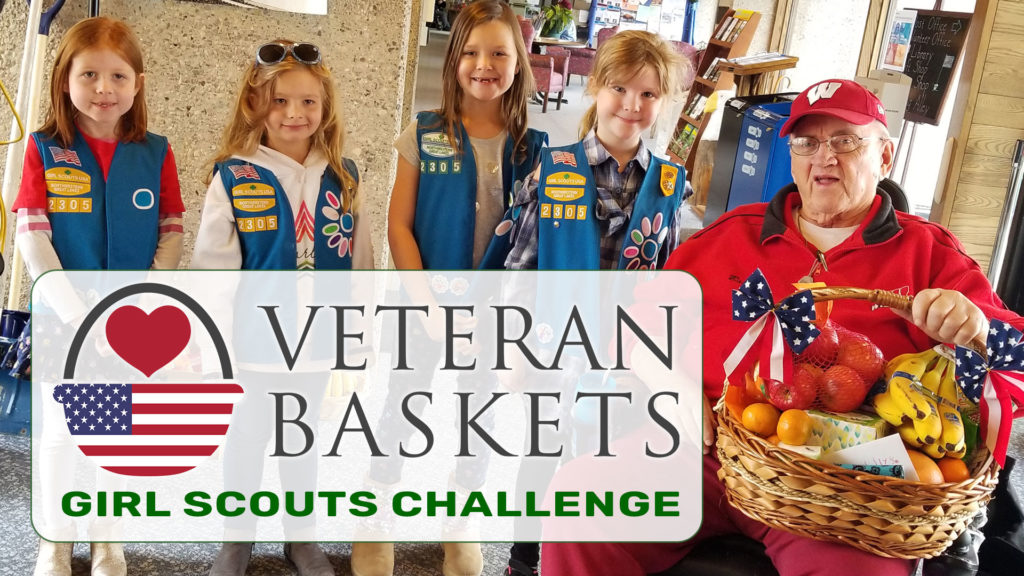 Veteran Baskets Girl Scouts Challenge