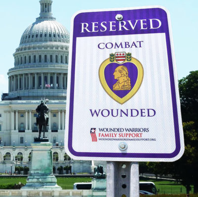 Combat Wounded Parking Sign Capitol