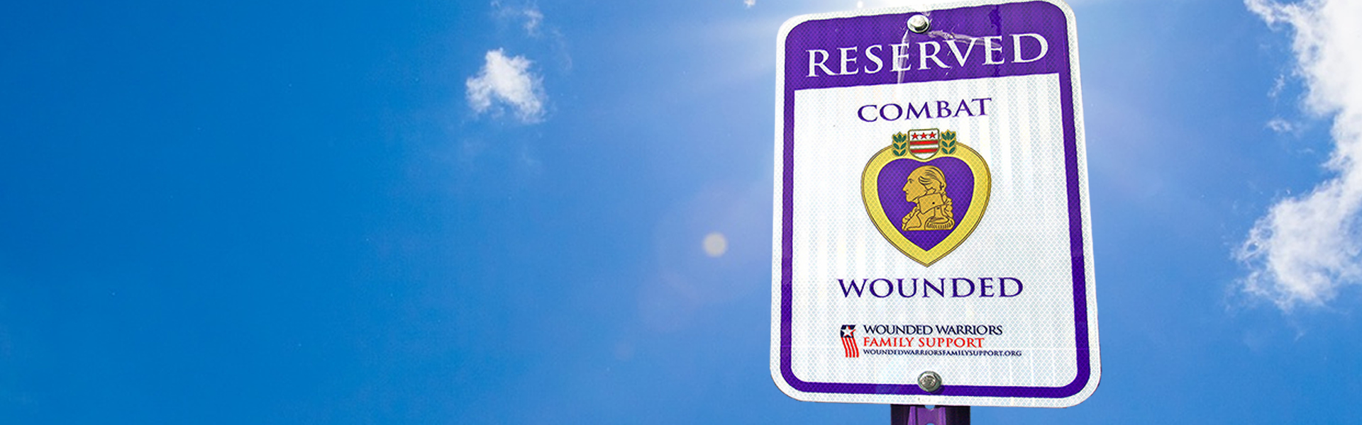Combat Wounded Parking Signs