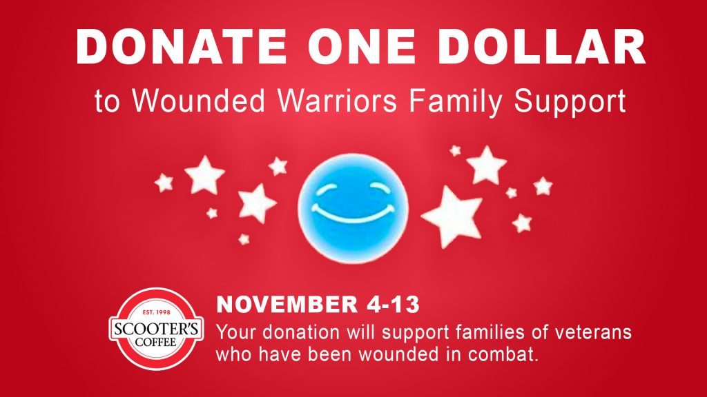 Scooter's Coffee raises funds for Wounded Warriors Family Support