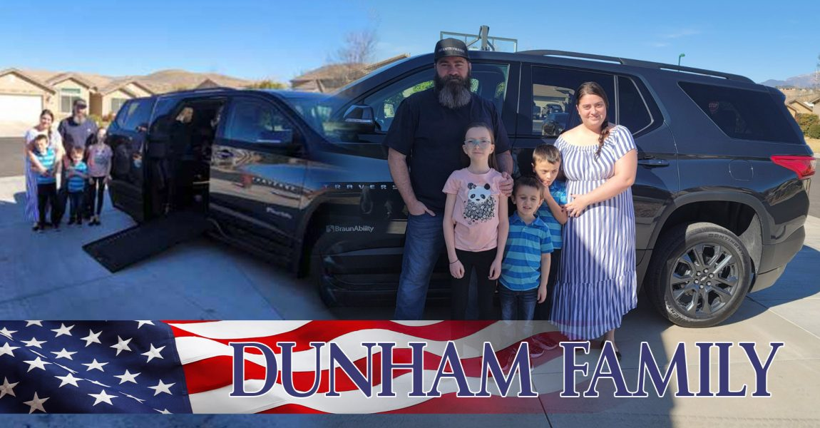 Dunham Family Honored with High Five Tour Vehicle