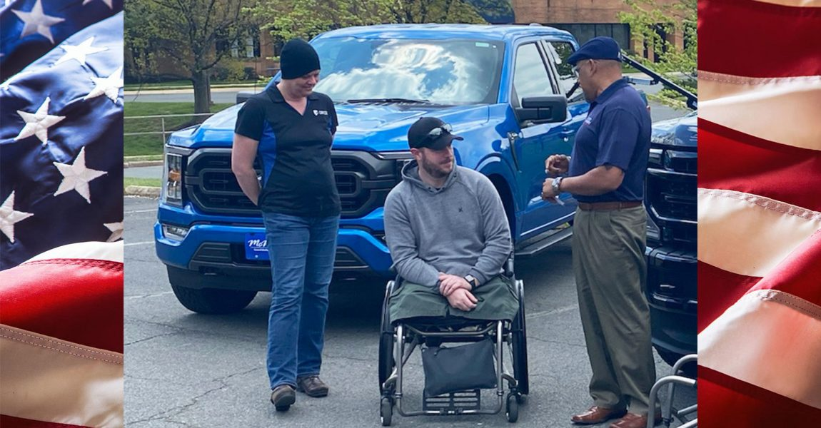 Lucas Cifka Honored with Mobility-Equipped Ford F-150