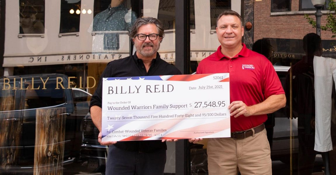 Wounded Warriors Family Support Receives Nearly $28,000 Donation from Billy Reid