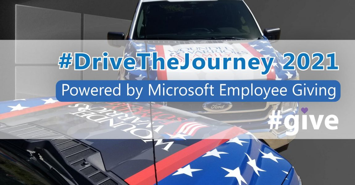 Wounded Warriors Family Support teams up with Microsoft Employees to provide Ford Trucks and JROTC scholarships as part of #DrivetheJourney Campaign